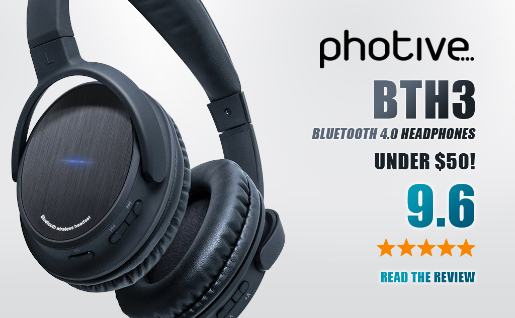 Photive Bluetooth Headphones BTH3 Review